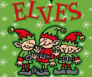 Rompicapo di Tre piccoli elfi di Babbo Natale