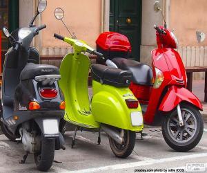 Rompicapo di Tre scooter