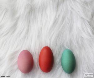 Rompicapo di Tre uova verniciate