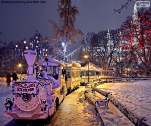 Rompicapo di Treno del mercato di Natale