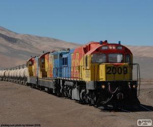 Rompicapo di Treno trasporto di merci, Cile