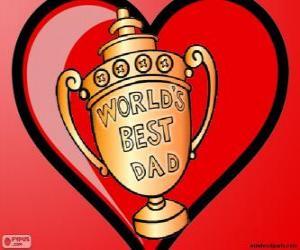 Rompicapo di Trofeo o coppa per il miglior papà