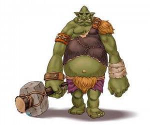 Rompicapo di Troll gigante armato di una clava