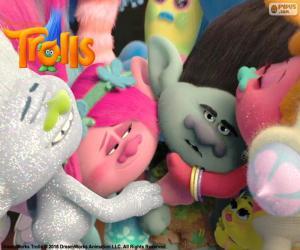 Rompicapo di Trolls di abbracci