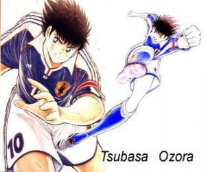 Rompicapo di Tsubasa Ozora è Captain Tsubasa, il capitano della squadra di calcio giapponese