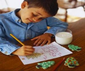 Rompicapo di Un bambino scrive una lettera a Babbo Natale