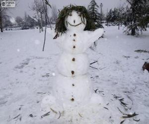 Rompicapo di Un divertente pupazzo di neve