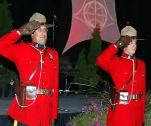 Rompicapo di Un funzionario di polizia della Régia polizia a cavallo canadense o Canadian Mounted Police