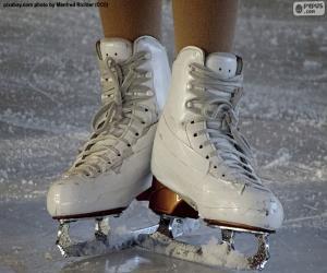 Rompicapo di Un paio di pattini da ghiaccio per il pattinaggio artistico