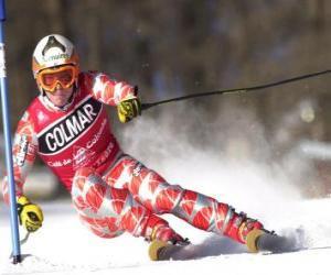 Rompicapo di Un sciatore in una concorrenza di slalom