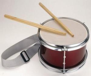 Rompicapo di Un tamburo, con un paio di bacchette