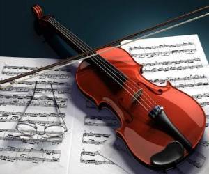 Rompicapo di Un violino e note musicali
