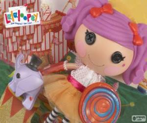 Rompicapo di Una bambola Lalaloopsy, Peanut Big Top con il suo animale domestico, un elefante
