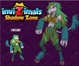 Rompicapo di Unicorn. Invizimals Le creature ombra. Creature timide, unicorni sono molto difficili da trovare