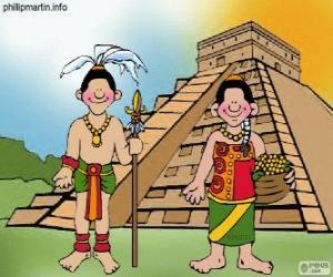Rompicapo di Uomo e donna maya
