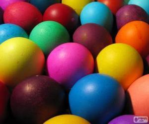 Rompicapo di Uova di Pasqua colorate