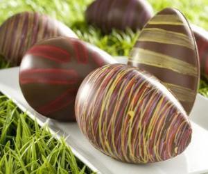 Rompicapo di Uova di Pasqua di cioccolato