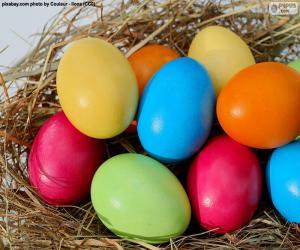 Rompicapo di Uova di Pasqua dipinte
