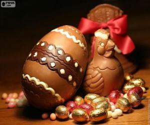 Rompicapo di Uova e galline Pasqua