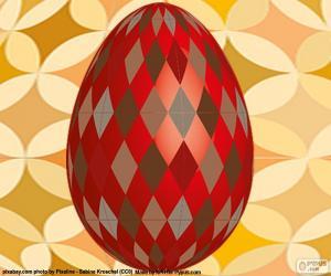 Rompicapo di Uovo di Pasqua con rombi