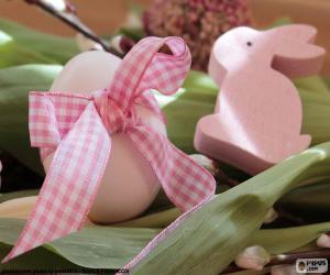 Rompicapo di Uovo e coniglietto di Pasqua