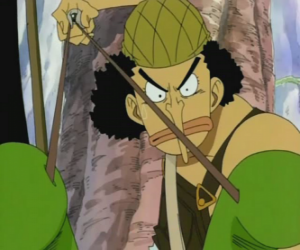 Rompicapo di Usopp, tiratore dil equipaggio pirata e esperto di armi
