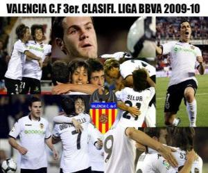 Rompicapo di Valencia CF terzo. Classificato BBVA League 2009-2010