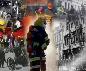 Rompicapo di Varie foto di vigili del fuoco