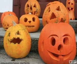 Rompicapo di Varie zucche di Halloween