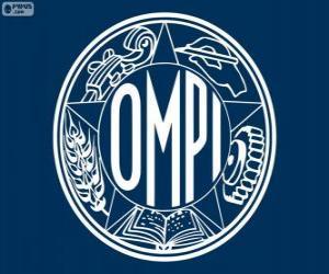 Rompicapo di Vecchio logo del OMPI-WIPO, Organizzazione Mondiale per la Proprietà Intellettuale