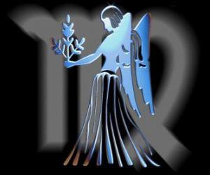 Rompicapo di Vergine. La vergine fanciulla. Sesto segno dello zodiaco. Nome latino è Virgo
