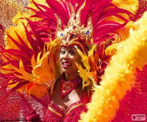 Rompicapo di Vestito arancio da Carnevale