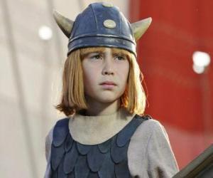 Rompicapo di Vicky il vichingo con il casco con le corna