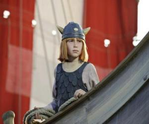 Rompicapo di Vicky il vichingo nel drakkar o nave vichinga