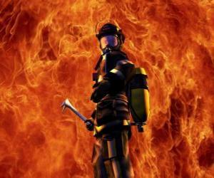 Rompicapo di Vigile del fuoco di fronte al fuoco
