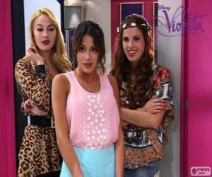 Rompicapo di Violetta con Ludmila e Camila