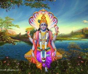 Rompicapo di Vishnu, il dio conservatore dil Trimurti
