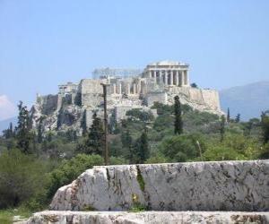 Rompicapo di Vista dei templi della città greca