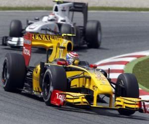 Rompicapo di Vitaly Petrov - Renault - Barcellona 2010