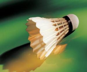 Rompicapo di Volano a giocare badminton