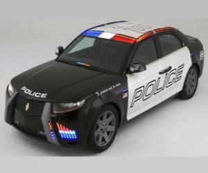 Rompicapo di volante o macchina della polizia