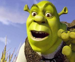 Rompicapo di Volto di Shrek, l'orco felice e sorridente