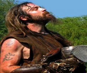 Rompicapo di Volto di vichingo con baffi e barba