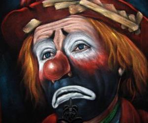 Rompicapo di Volto triste clown