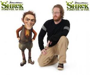 Rompicapo di Walt Dohm fornisce la voce del Tremotino, l'ultimo film Shrek e vissero felici e contenti
