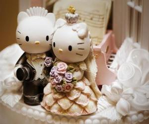 Rompicapo di Wedding Dolls Ciao Kitty e Caro Daniel