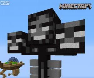 Rompicapo di Whither, una creatura capo in Minecraft