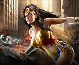 Rompicapo di Wonder Woman è un supereroina immortale con poteri simili a Superman