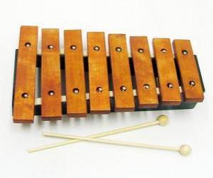 Rompicapo di Xilofono, strumento musicale a percussione