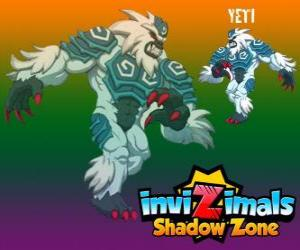 Rompicapo di Yeti. Invizimals Le creature ombra. Il yeti potenti vivono nascosti nelle vette più alte dell'Himalaya